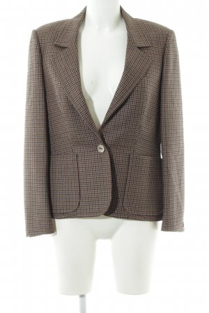 Woll-Blazer Hahnentrittmuster Casual-Look