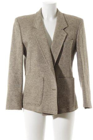 Blazer en laine marron clair-beige clair Motif de tissage style classique