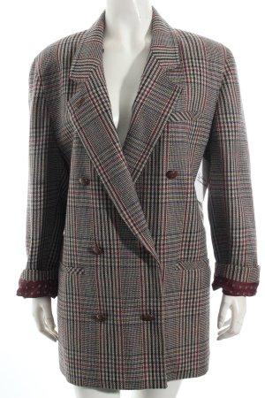 Woll-Blazer Karomuster Vintage-Look