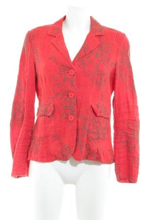 Woll-Blazer rot-khaki Blumenmuster Business-Look