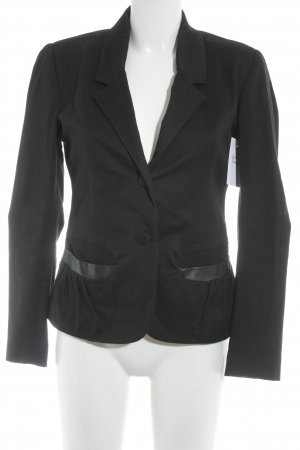 Woll-Blazer schwarz Casual-Look