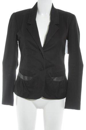 Wollen blazer zwart casual uitstraling
