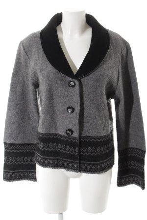 Woll-Blazer schwarz-dunkelgrau klassischer Stil
