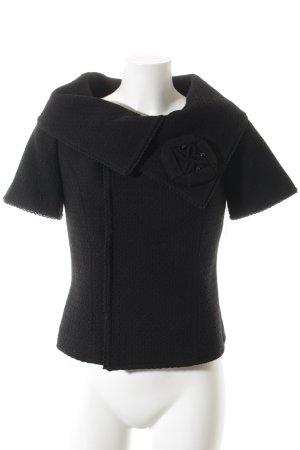 Wool Blazer black weave pattern classic style