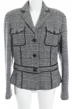 Wool Blazer black-white houndstooth pattern casual look