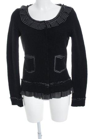 Woll-Blazer schwarz-wollweiß Punktemuster Elegant