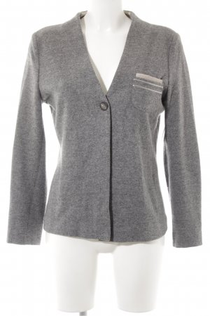 Woll-Blazer silberfarben-grau Casual-Look