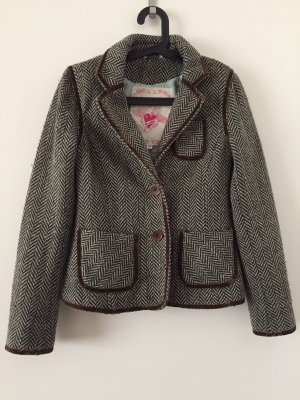 BlendShe Wool Blazer turquoise-brown wool