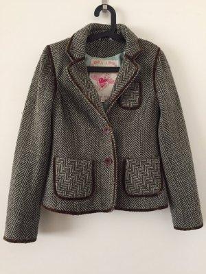 BlendShe Blazer en laine turquoise-brun laine