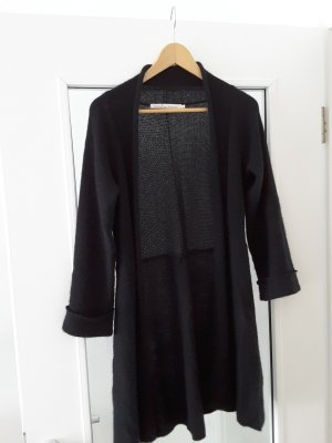 Woll-Cardigan mit schmalem Gürtel, A-Linie, zum Wickeln
