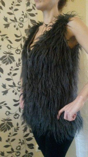 Woll Fell Ärmellose Pullover Jacke Weste *NEU* Größe S Neupreis: 39€