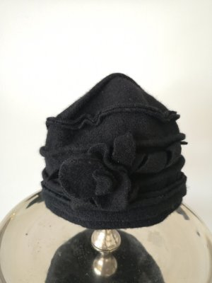 Woll Hut Mütze Schwarz Wolle Hochwertig