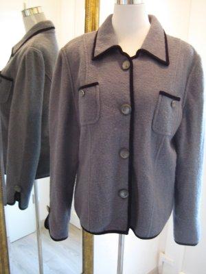 Peter Hahn Veste en laine gris-noir laine vierge