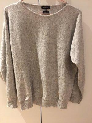 Massimo Dutti Pull en laine gris clair laine