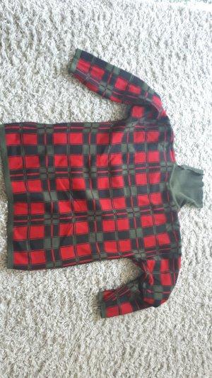 Passport Maglione di lana rosso lampone-cachi