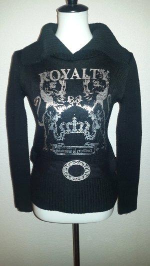 Maglione di lana nero-argento