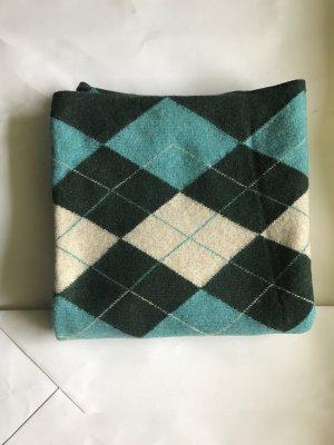 Woll Schal , Karo, grüntöne, 2 x 0,5 M