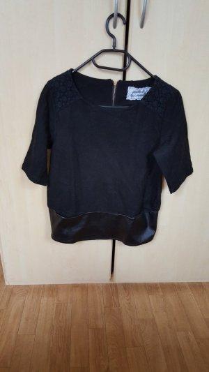 Woll Schwarze Bluse, Gr.S