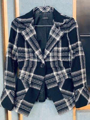 Blacky Dress Wool Blazer black-natural white wool