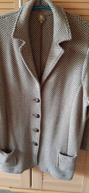 MÄRZ classic Wool Blazer beige-dark brown new wool
