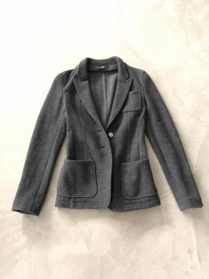 Hugo Boss Wool Blazer dark grey-gold-colored