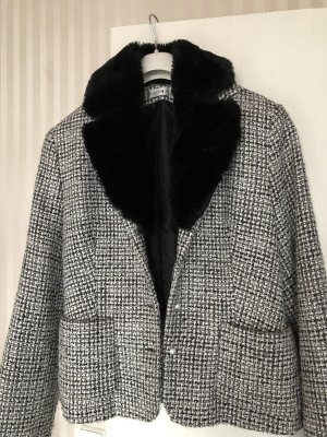 Comma Wool Blazer black-white