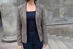 H&M Wool Blazer multicolored mixture fibre
