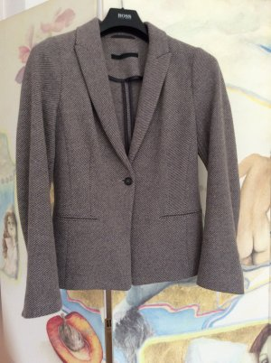 Wollblazer in warmgrau-beige