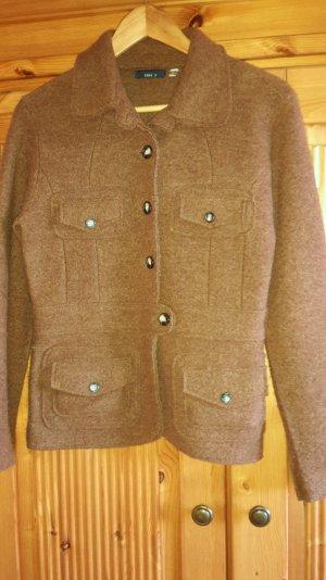 Wollblazer Jacke cognacbraun Gr. S Buisness