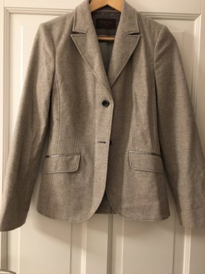 s.Oliver Wool Blazer grey-grey brown