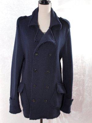 Sisley Chaqueta de lana azul oscuro Lana