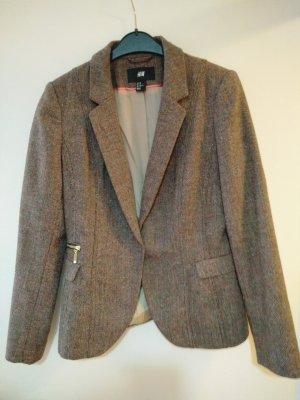 Wollblazer Tweed mit Korallefarbenen Details
