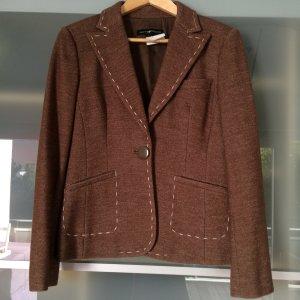 Wollblazer Tweedblazer braun mit edlen Details Gr. 36 Femme de Carriere Kanada