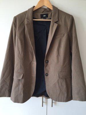 H&M Tweed blazer lichtbruin-bruin