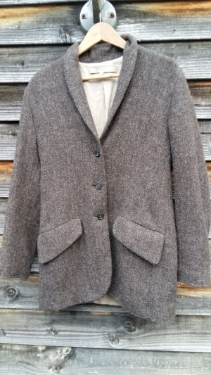 Wool Blazer dark brown wool