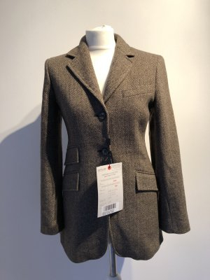 Sportmax Wool Blazer dark brown-light brown