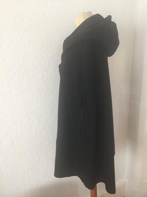 Wollcape H&M schwarz mit Kapuze
