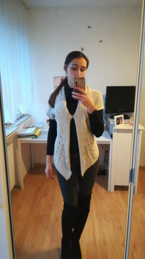 H&M Cardigan all'uncinetto crema Cotone