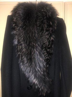 Abrigo de invierno negro-color plata