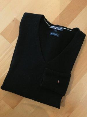 Tommy Hilfiger Maglione di lana nero Tessuto misto