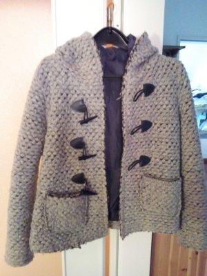 Wolle mantel Grau farbe.