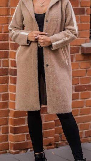 100% Fashion Manteau à capuche beige