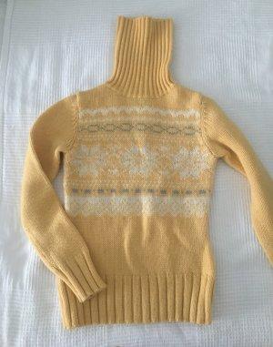 Maglione dolcevita giallo-oro Lana