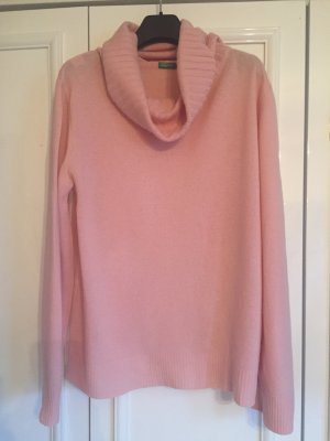 Benetton Pull en laine rose clair