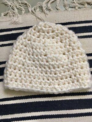 Wolle Weiß Beanie Mütze