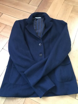 Blazer in lana ocra-blu scuro Lana