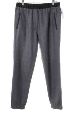 Woolen Trousers dark grey-black casual look