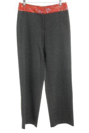 Wollen broek grijs colour blocking zakelijke stijl