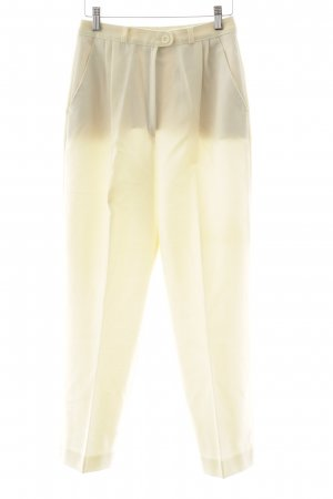 Woolen Trousers pale yellow casual look