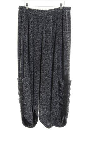 Pantalon en laine moucheté molletonné